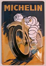 MICHELIN BLECHSCHILD Motorrad mit PRÄGUNG, 20 x 30 cm, NEU