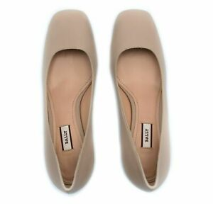 1Bally Emily Women's Glossy Pink Leather Slip On Pumps Made in Italy NIB