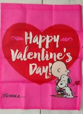 Peanuts Snoopy & Charlie Brown Valentine's Day 14x18 inches Garden Flag