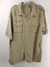 Boy Scouts Of America Adult XL Tan Button Down Shirt Long Sleeve With Pockets