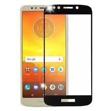 FULL COVERAGE Black Tempered Glass Screen Protector For Motorola Moto E5 Play