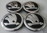 SKODA ALLOY WHEEL CENTRE HUB CAPS 56MM SET 4pcs for OCTAVIA,SUPERB,YETI,FABIA