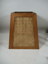 RARE Antique Cane Rattan Wicker Woven & Wood Lamp Shade Mission Arts Crafts