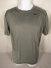 Men's Nike Pro Combat Dri-Fit Fitted Athletic Shirt XL Gray Short Sleeve