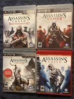 Assassin's Creed Bundle Ps3 PlayStation 3 Lot Of 4 Games 2,3,Creed, Brotherhood
