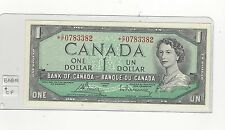 **1954**Canada $1 Note, Bouey/Rasminsky # *CF 0783382 BC-37cA Replacement