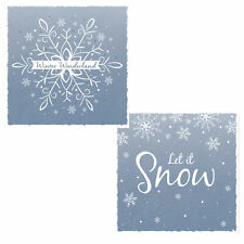 Pack of 10 Christmas Cards with Glitter Detail - 8496 Snow