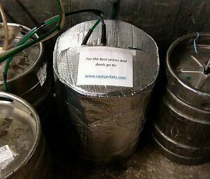 INSULATED KEG JACKET & 2 ICE BLANKES cooler cooling lager beer smooth keg barrel