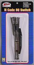 NEW Atlas Code 80 #6 Switch Manual Left-Hand Black N 2706