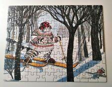 "Vintage 1997 Jigsaw Puzzle SkiCat by B. Kliban 7"" x 9"" Puzzle ALL 100 Pieces"