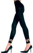 Crochet Ankle Spandex Leggings One Size Sexy Black Pants 70 Denier