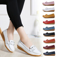 9 Color Women Ladies Real Leather Comfy Walking Flats Loafers Casual Pumps Shoes