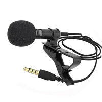 3.5mm Lavalier Clip Micro Mini Mic Microphone For Mobile Phone PC Recording