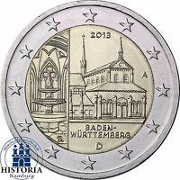 Kloster Maulbronn 2 Euro Deutschland 2013 Bundesländer Serie Stempelglanz  Mzz A