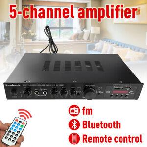 1000W 5CH Digital Bluetooth Stereo Amplifier Car Home HIFI USB FM Remote Control