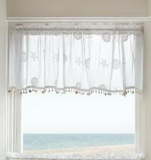 Heritage Lace SAND DOLLAR Valance with Trim 45x15 White Made in USA