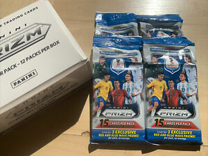 2018 PANINI PRIZM SOCCER FIFA WORLD CUP FAT PACK ( 4 pack LOT  ) JUMBO MBAPPE