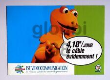 publicité 1994 Casimir Ile aux enfants EST VIDEO câble Spock Star Trek Canal J