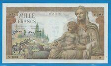 Gertbrolen 1000 FRANCS Déméter du 7-1-1943   M.2989 Billet N° 074711579