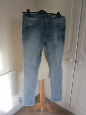 VGC RIVER ISLAND DISTRESSED BLUE SKINNY STRETCHY JEANS SIZE 28 L30