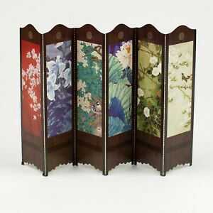 Pack of 30 bookmarks of Chinese folding screens birds flowers dollhouse #B0014