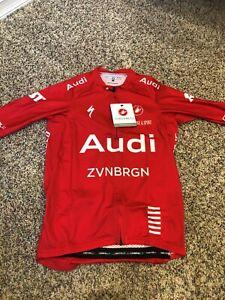 Audi Cycling Team Castelli Aero Race 6.0 Jersey - Red (MEDIUM)