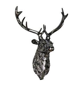 Large Metal Wall Mounted Stag Head Deer 60 cm Buck Statue Emboss a/u