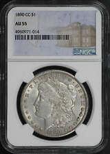 1890-CC Morgan DollarNGC AU-55 Carson City Mint Label -180827
