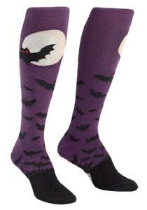 Sock It To Me Womens Knee High Socks Halloween Batnado Bats Novelty Footwear