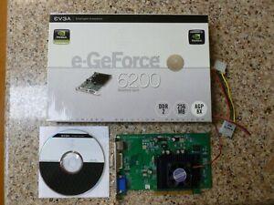 EVGA NVIDIA GeForce 6200 256MB DDR2 S-video(TV)/DVI/VGA GRAPHICS VIDEO CARD AGP8