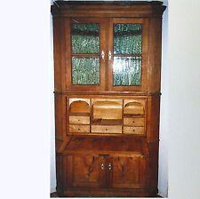 Rarität Ecksekretär massiv Esche Sekretär ältere Restauration / ca. 210 x 115 cm