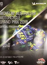 2018 Michelin Australian Motorcycle Grand Prix MotoGp Official Program Guide