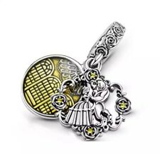 BEAUTY & THE BEAST European Charm & Gift Pouch - Sterling Silver S925 DISNEY