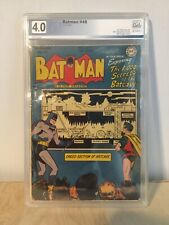 Graded 1948 Golden Age BATMAN #48 White Pages PGX(Like CGC) 4.0 VG
