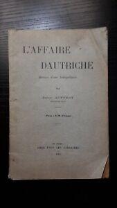 L'affaire Dautriche, de Jules Auffray, 1905 (Affaire Dreyfus)