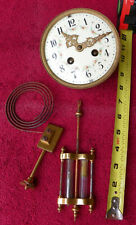 Vintage L. Marti French Crystal Regulator Clock Movement & Pendulum 4 3/4in Dial