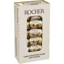 FERRERO ROCHER FINE HAZELNUT CHOCOLATE CANDY INDIVIDUALLY GOLD WRAPPED BOX