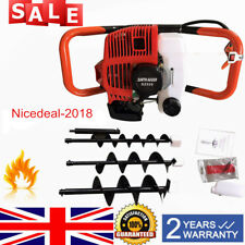 52cc Petrol Earth Auger Hole Digger 3 x Drill Fence with Extension Pole