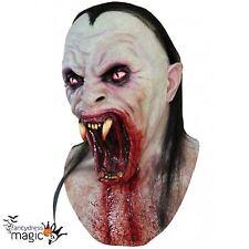 Viper Serpiente demonio colmillos Halloween Cabeza Completa Látex De Terror & Cuello Disfraz Máscara