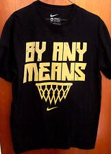 NIKE basketball lrg tee By Any Means T shirt throwback logo distressed swoosh