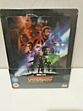 Avengers Infinity War 3D + 2D Blu-Ray Exclusive Lenticular Steelbook New &Sealed