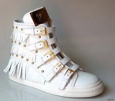 new $1150 Giuseppe ZANOTTI white FRINGE STUDS HighTop sneakers ankle boots 39 9