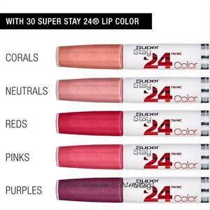Maybelline SuperStay   24  HR  Lip Colour Lipstick  NEW BOXED - FREE POST