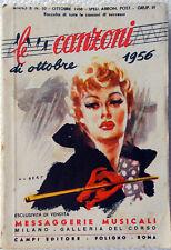 Le CANZONI di  Ottobre 1956/10 Messaggerie Musicali-design Albert-Testi