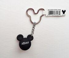 Disney - Mickey Mouse - Black Mickey Head Ears Icon Ball Keychain/Keyring