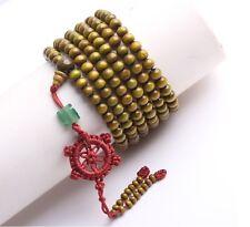Green Tibetan Buddhist prayer beads 216 Sandal beads bracelet necklace