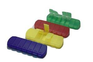 1x Pillendose Pillenbox Tablettendose 7Fächern Tablettenbox 7Tage Pillenspender