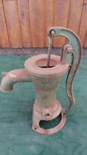 "antique Cast Iron Hand WATER PUMP in Nice Condition 16"" High SMART BROCKVILLE"