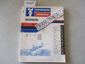 1977 EVINRUDE 85-115 85793, 85799, 115793, 115799 Motor Engine Service Manual