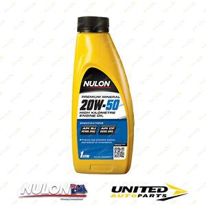 NULON Premium Mineral 20W-50 High Kilometre Engine Oil 1L for MITSUBISHI Starion
